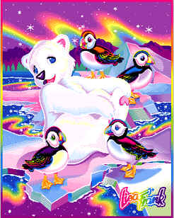 Lisa Frank polar bear and penguins