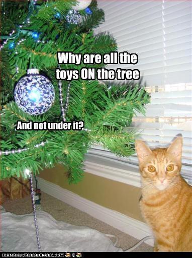 toys cat tree christmas
