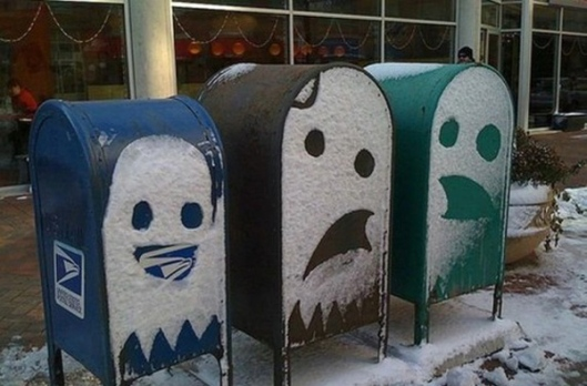 snow faces