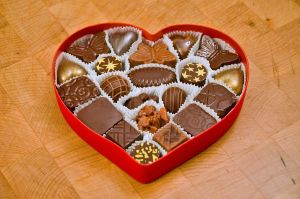 chocolate heart box