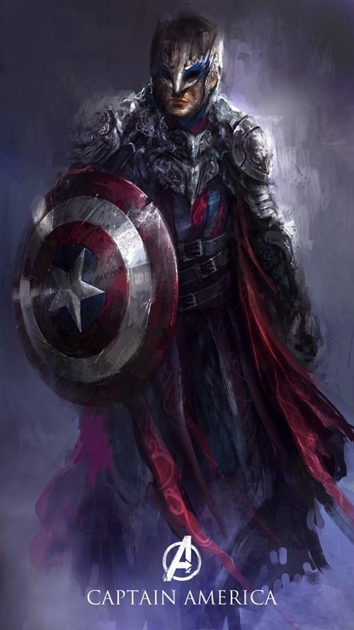 Captain America Avengers Marvel fantasy style
