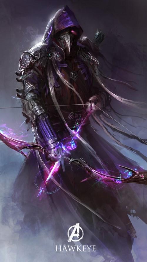 Hawkeye archer Marvel Avengers fantasy style