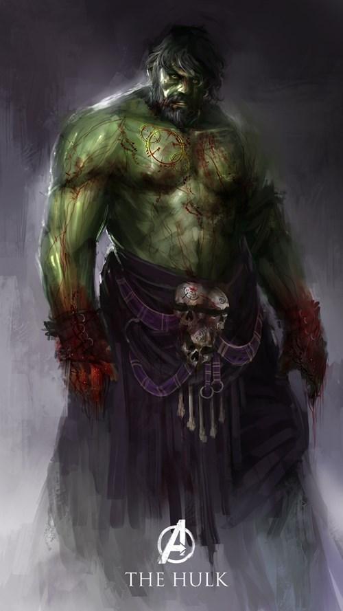 Hulk Marvel Avengers fantasy style