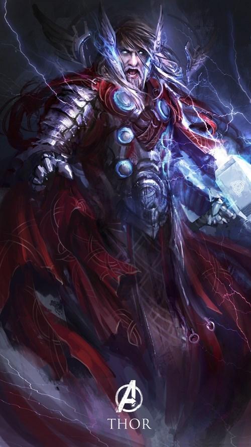 Thor Marvel Avengers fantasy style