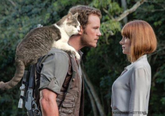 jurassic park world cats photoshop