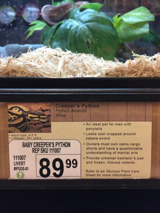 pet store sign plant