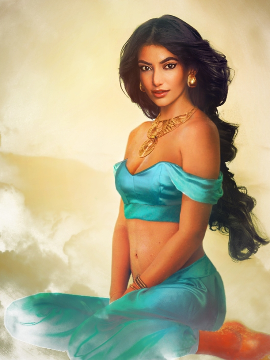 What princess jasmine would look like in real life