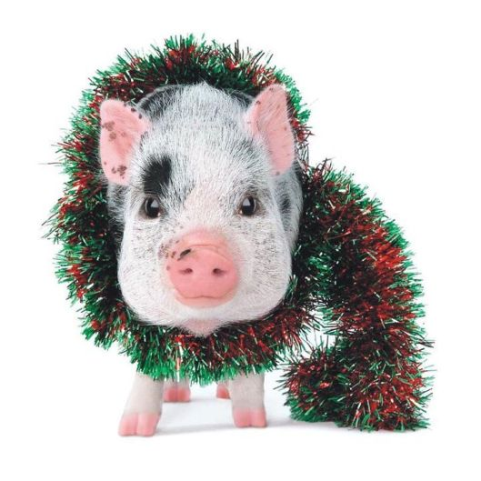 Christmas garland pig