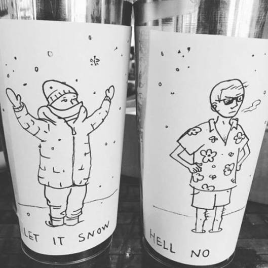 snow or no tip jar competition