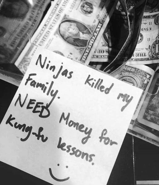 ninjas killed my family revenge fund