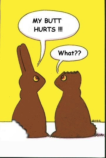 chocolate bunny joke
